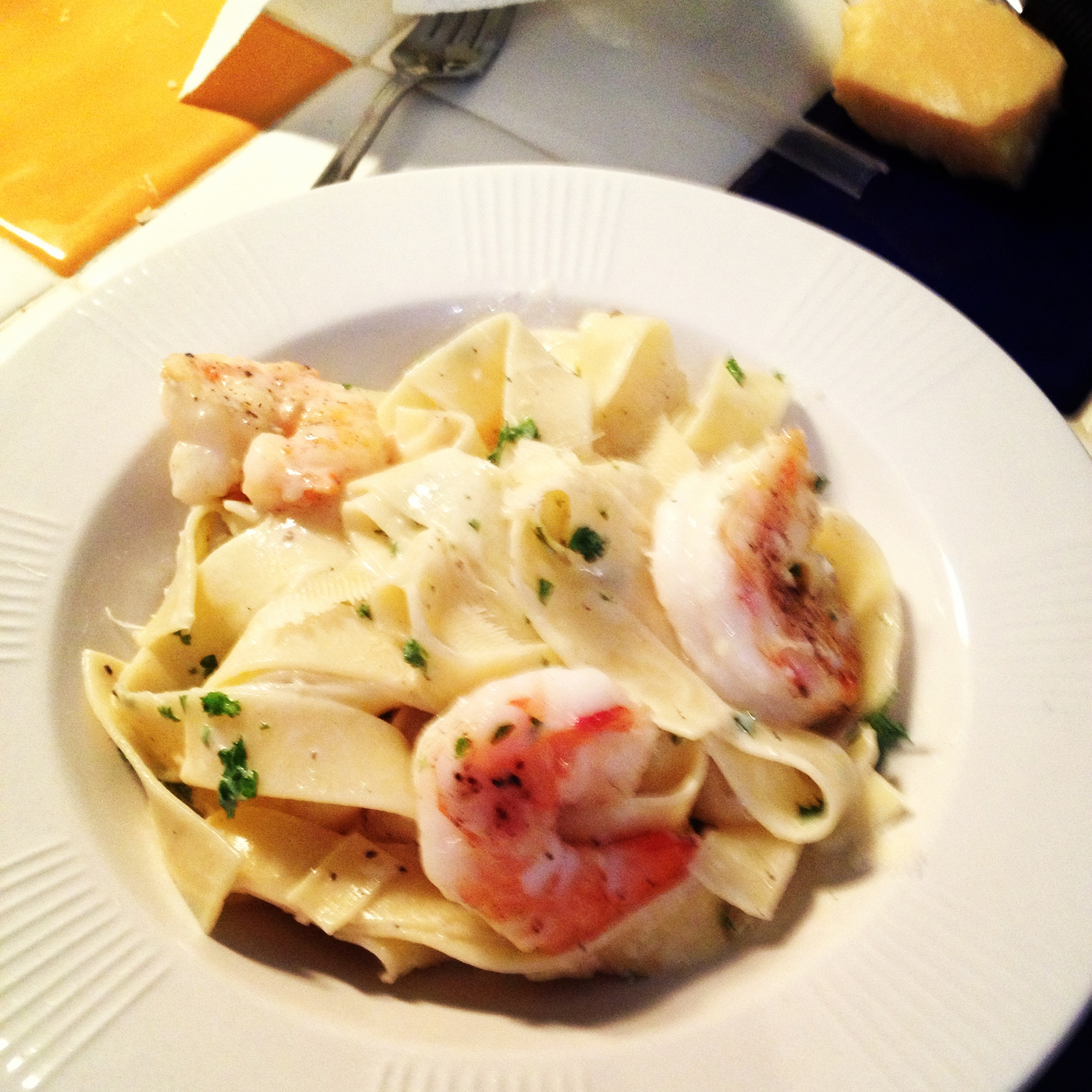 Pappardelle With Truffles And Saut Ed Shrimp Roxana 39 S