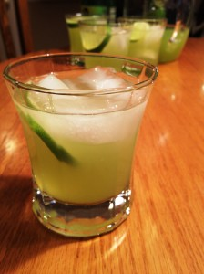 Fresh Honeydew Puree with Lime and Vodka