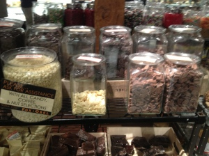 So many chocolate piles at this place