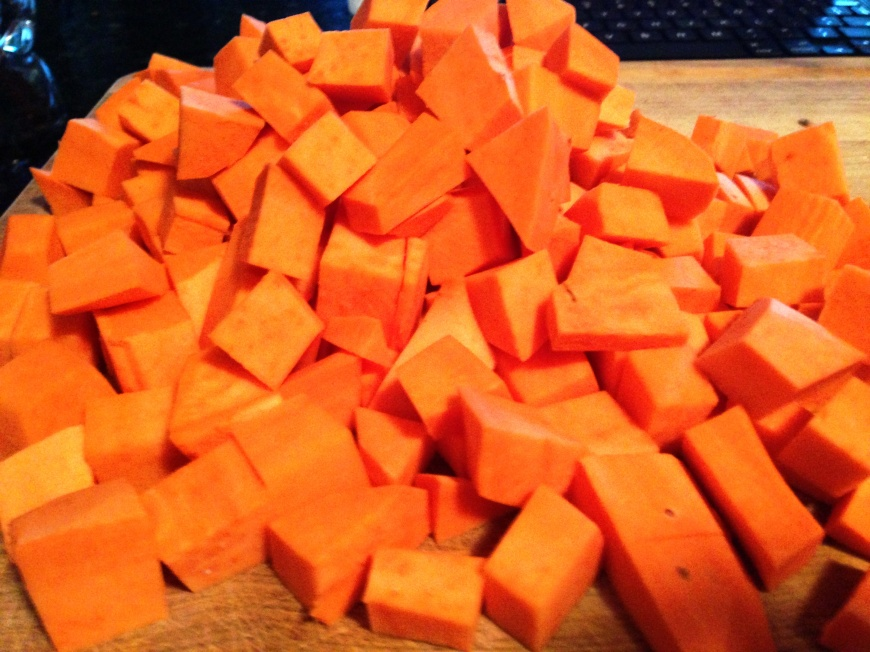 sweet potato pile