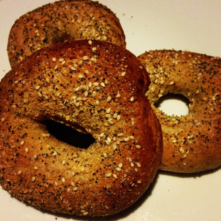 homemade bagels- didn't last long