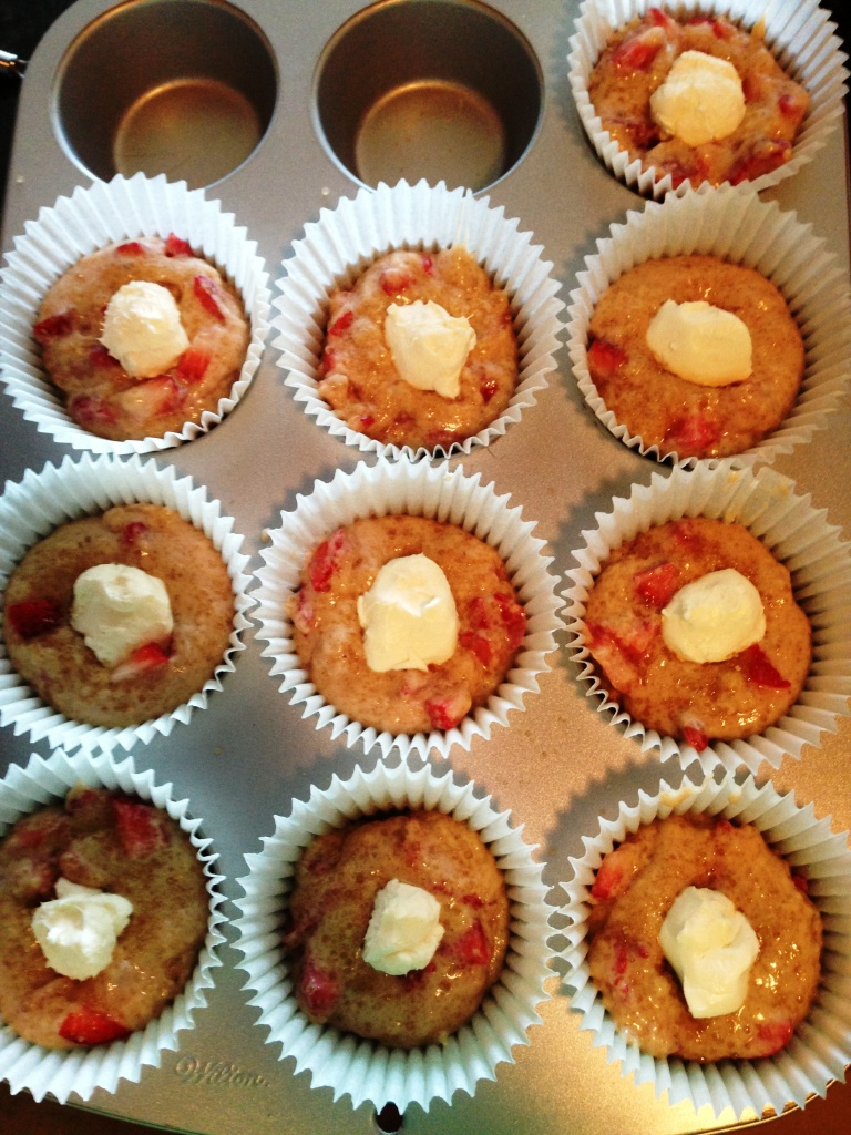 9 grown up sized muffins