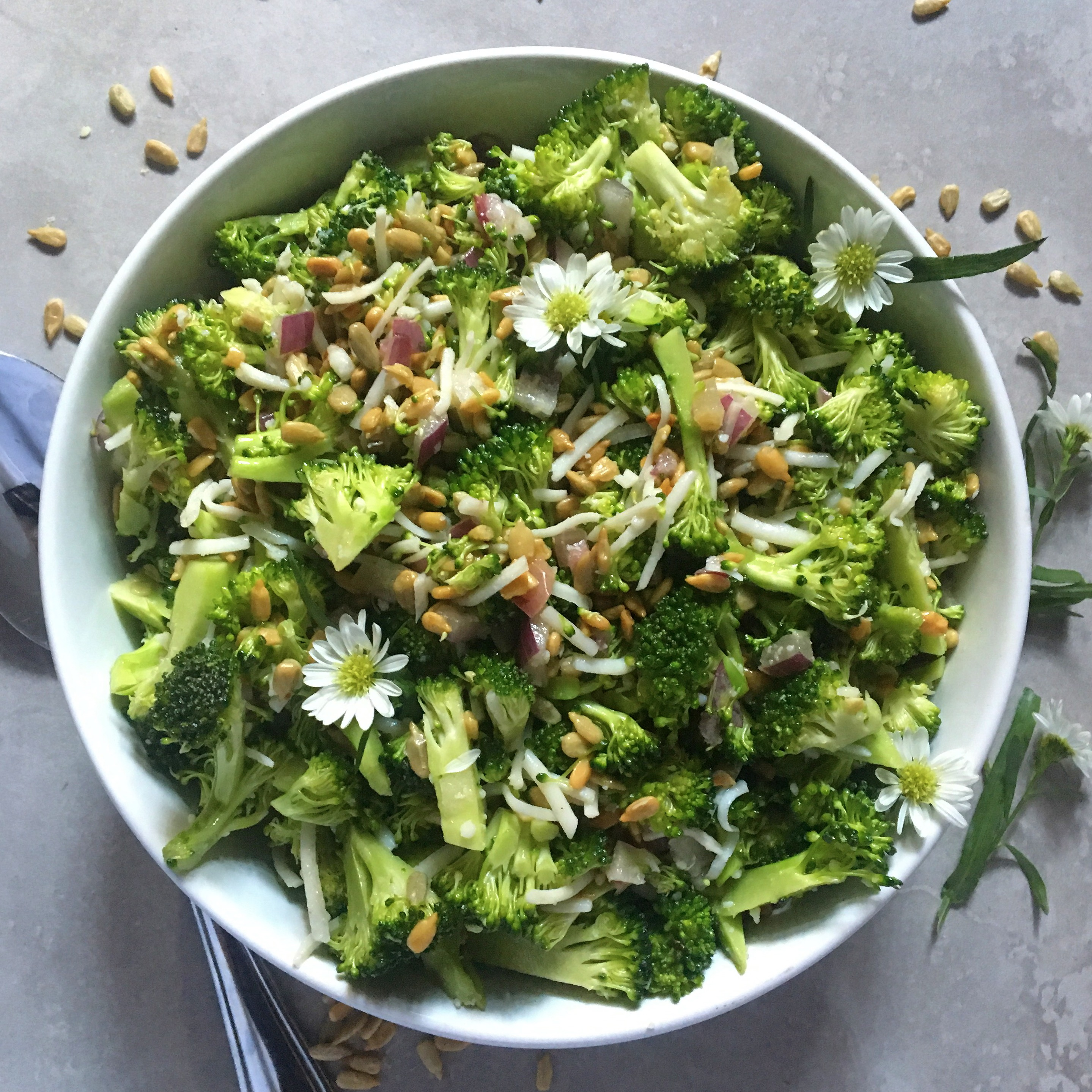 Honey Mustard Raw Broccoli Crunch Salad   Roxana's Kitchen